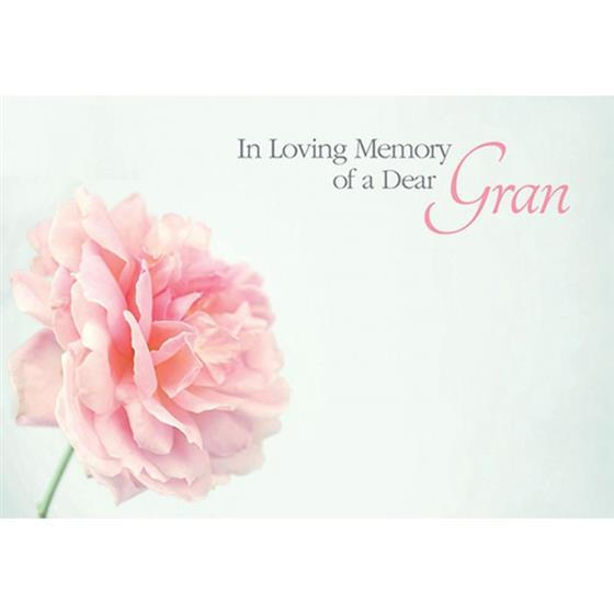 In Loving Memory Of A Dear Gran Funeral Card Oasis Item