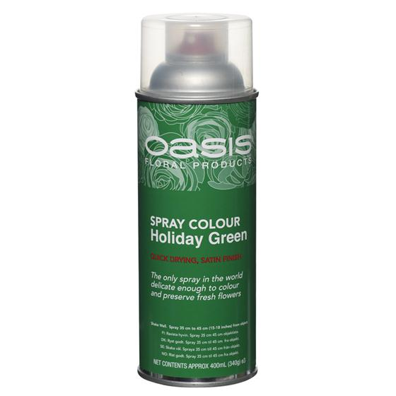 Holiday Green Floral Spray Paint Colour Oasis Item Code