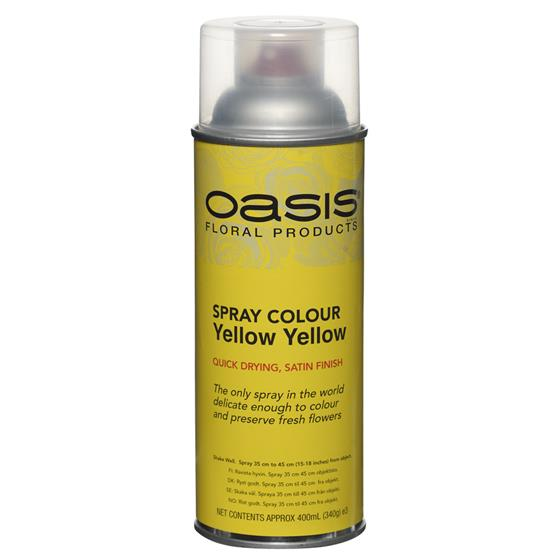 Yellow Yellow Floral Spray Paint Colour Oasis Item Code 30 05371