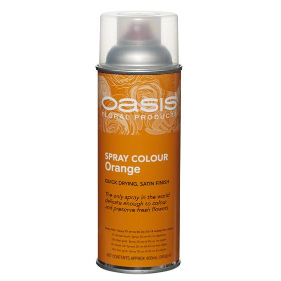 Orange Floral Spray Paint Colour Oasis Item Code 30 05312