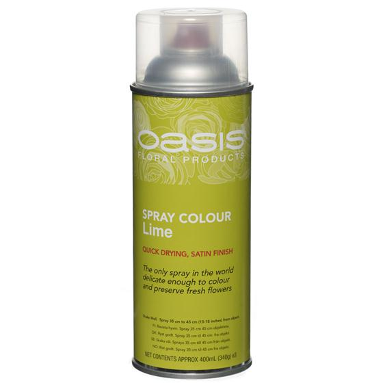 Lime Green Floral Spray Paint Colour Oasis Item Code 30 00021