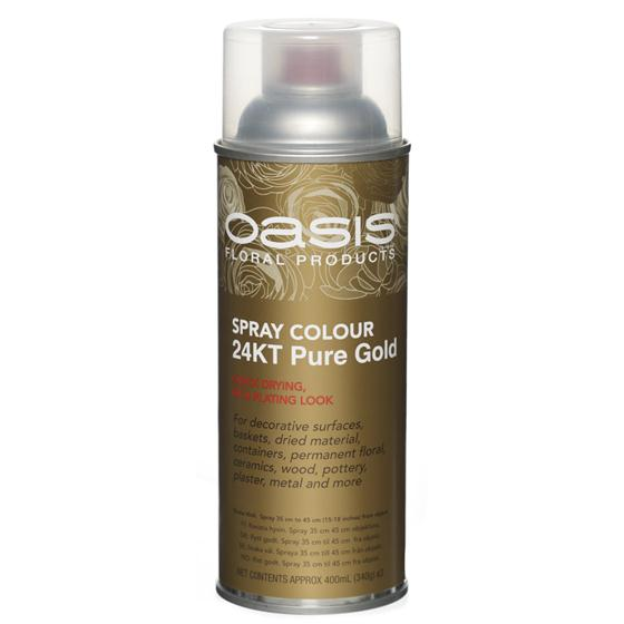 24k Pure Gold Floral Spray Paint Colour Oasis Item Code