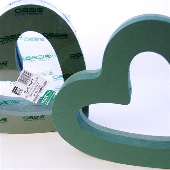 15 Inch Oasis Floral Foam Open Heart Shape Oasis Item
