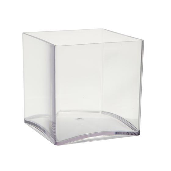 Acrylic Plastic Cube Vase 15cm X 15cm Oasis Item Code 4120