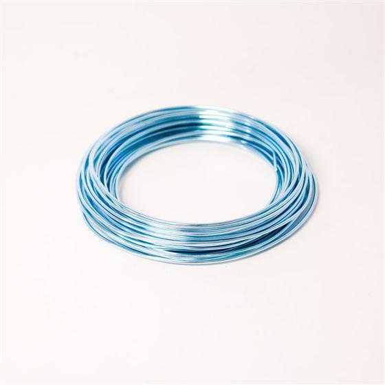 Ice Blue Aluminium Wire 11.7 Metre Roll - Oasis item code: 94615